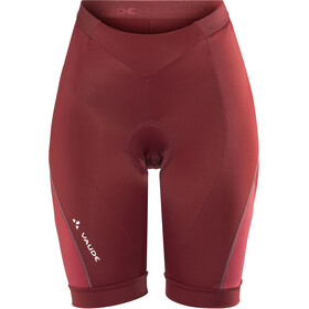 VAUDE Advanced II pantaloncini da ciclismo Donna rosso